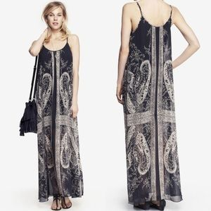 Express Paisley Print Maxi Dress